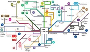 Cardiff Bus routes