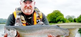 Chris Hartley lands monster Rainbow Trout