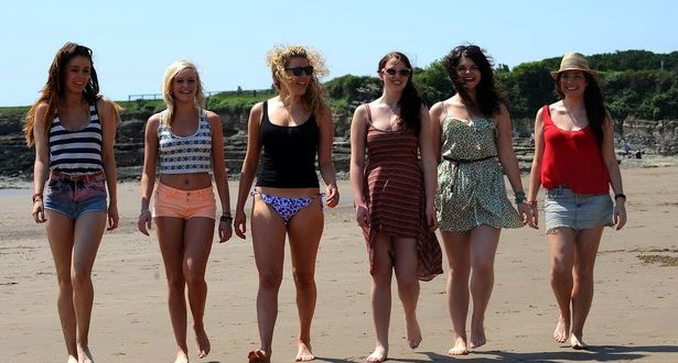 Enjoying the hot Welsh weather at the beach