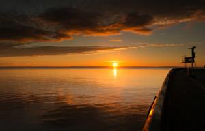 Cardiff Bay Fishing - Cardiff barrage sunrise