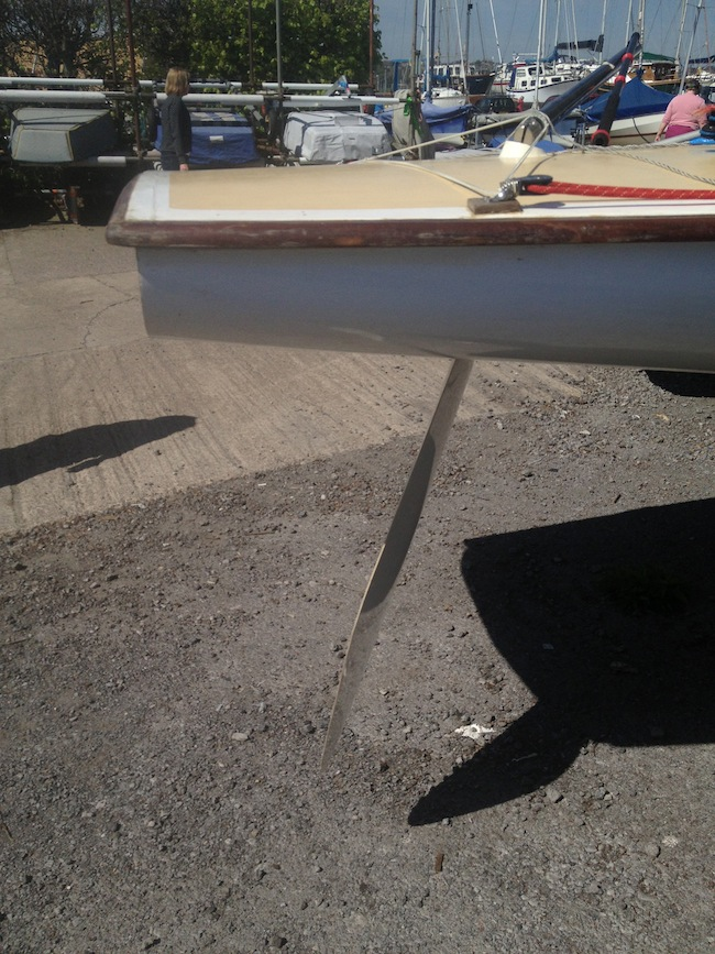 Balanced Rudder on the Flying Fifteen