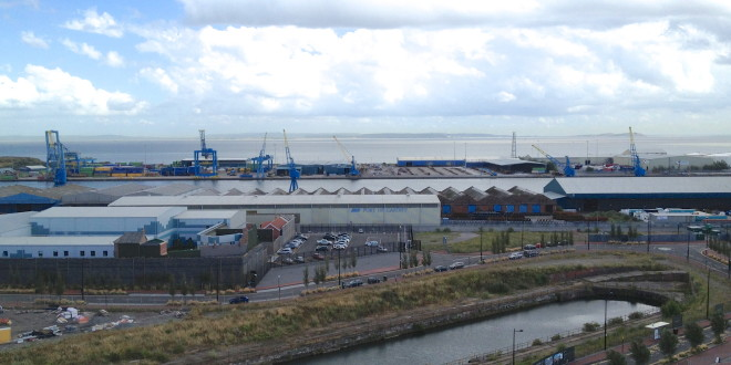 Port of Cardiff - Ariel view