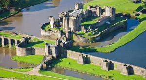 Caerphilly CastleCaerphillyAerialSouthCastlesHistoric Sites