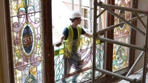 Stained glass windows in Merthyr