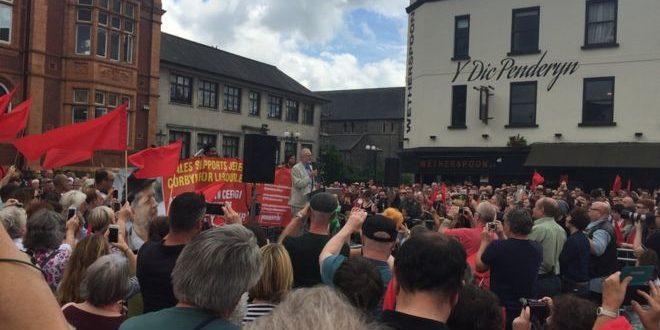 Jeremy corbyn in merthyr