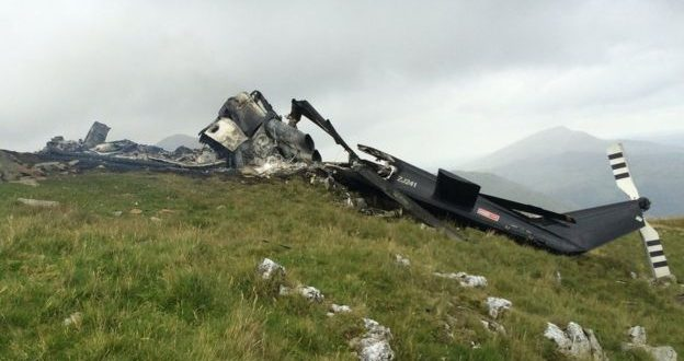 Snowdonia helicopter fire