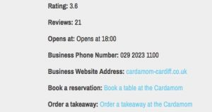 Cardiff curry directory