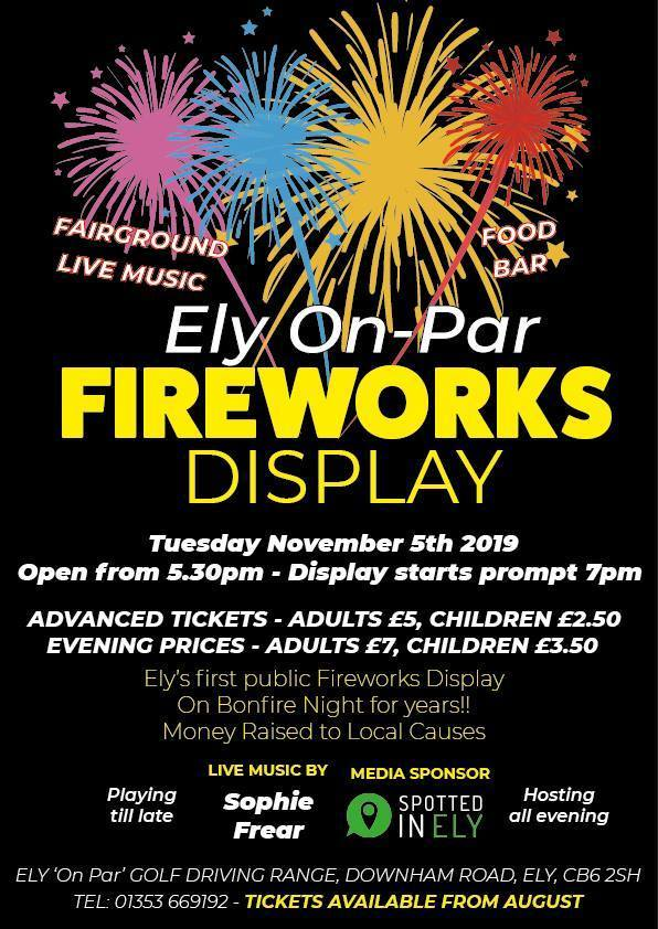 Fireworks in Cardiff Ely